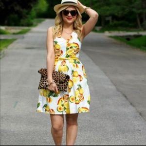 Banana Republic Lemon print dress 2P 🍋